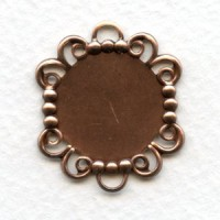 Great 18mm Filigree Edge Settings Rose Gold Plated (6)