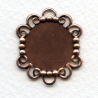 Great 18mm Filigree Edge Settings Oxidized Copper (6)