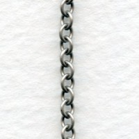 Tiny Cable Chain Oxidized Silver 3x2mm (3 ft)