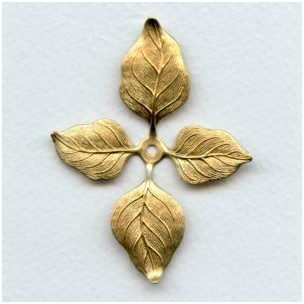 Versatile Leaf Stampings in Raw Brass 65mm (2)