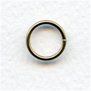 Jump Rings Round 12mm Oxidized Brass (24)