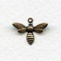 Bee Pendants Oxidized Brass 17mm (12)