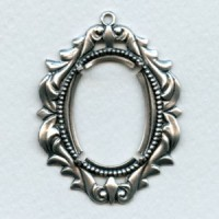 Romantic 30x22mm Setting Oxidized Silver (1)