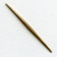 Long Thin Spikes Solid Brass Raw 70mm (3)