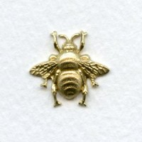 Bumblebee Stampings Tiny Raw Brass 18mm (6)