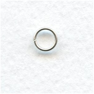 6mm Oxidized Silver Jump Rings Round (50)