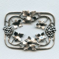 Grapes and Vines Frame Oxidized Silver (1)