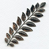 Fern Stamping Raw Brass 89x32mm (1)