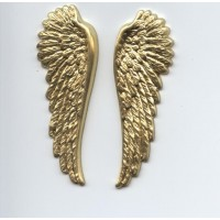 Spectacular Wings Raw Brass 52mm Tall (1 Set)