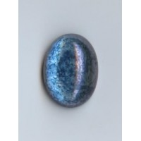 Blue Luster Effect Glass Cabs 18x13mm (2)