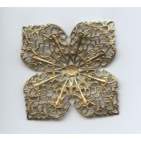 Four Points Large Filigree Raw Brass 43mm (1)