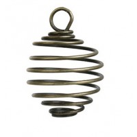 Spiral Cage Charms/Lantern Antique Bronze pendant (1)