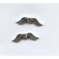 Angel Wings Spacer Beads Antique Silver (6)