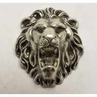 Head of A Growling Lion Oxidized Silver 30mm (1)