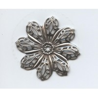 Filigree Flower Oxidized Brass 45mm