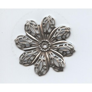 Filigree Flower Oxidized Silver 45mm (1)