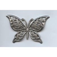 Ornate Filigree Butterfly Oxidized Silver 65mm (1)