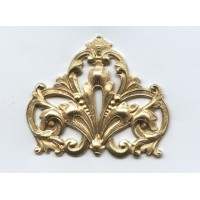 Grand Ornate Corner Stamping Raw Brass (1)