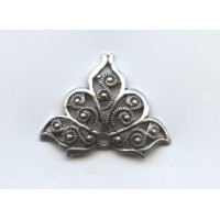 European Filigrees Fancy Triangles Oxidized Silver (2)