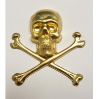 Large Skull and Crossbones Raw Brass 55mm (1)