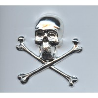 Large Skull and Crossbones Bright Silver 55mm (1)