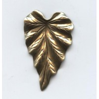 Large Leaf Oxidized Brass 38mm (6)