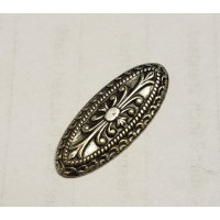 Highly Detailed Embellishments 26mm Oxidized Silver (6)