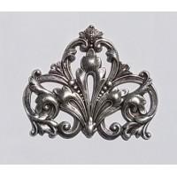 Grand Ornate Corner Stamping Oxidized Silver (1)