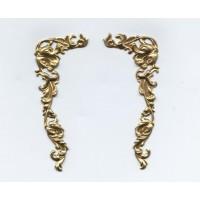 Corner Details Grand Victorian Style Raw Brass (1 pair)