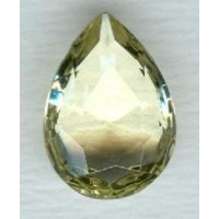 Jonquil Pear Shape Glass Jewelry Stone 18x13mm