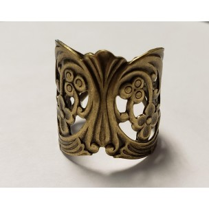 Floral Wrap Finger Ring Oxidized Btrass (1)