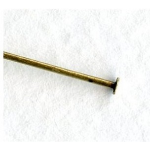 Standard 24 Gauge Head Pins 2 Inches Oxidized Brass (100)