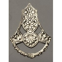 Moroccan Style Silver Pendant Stamping 45mm (2)