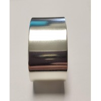 Smooth Sterling Silver plated Flat Cuff 28mm (1)