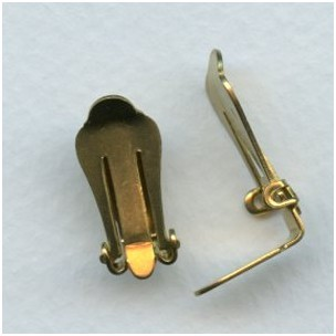Clip Earring Findings Raw Brass (6 pairs)