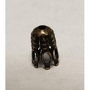 ^Cone Shaped Fancy Bead Caps 7x4mm Oxidized Brass(24)