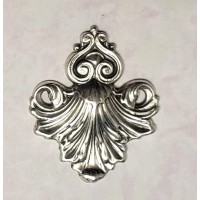 Ornate Embellishment Connectors Oxidized Silver (4)