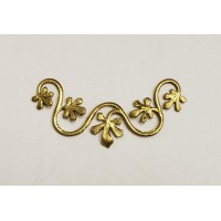 Vine With Leaves Swag 38mm Raw Brass (2)