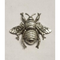 Giant Bumblebee Stamping Oxidized Silver 61mm (1)