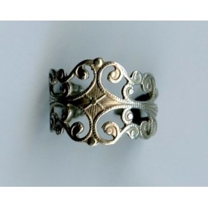 Filigree Finger Ring Oxidized Silver (1)