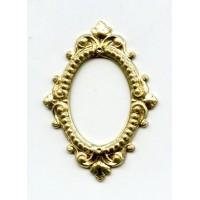 Ornate Oval Framework Raw Brass (2)