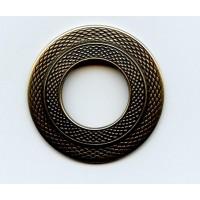 Texture Round Frames Oxidized Brass 32mm (1)