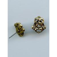 Florentine Scroll Earring Antique Gold (2)