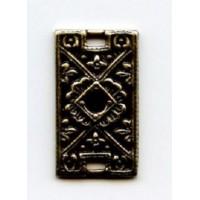 Decorative Flat Filigree Connector Oxidized Brass 18x10mm(6)