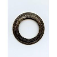 Texture Round Frames Oxidized Brass 45mm (1)