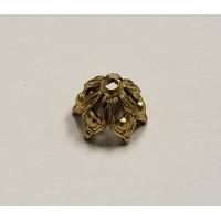Elegant Gothic Style Bead Raw Brass 8mm (6)