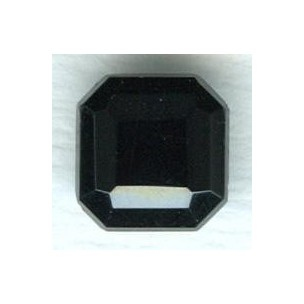 Jet Glass Square Octagon Stones 10x10mm