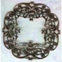 ^Intricately Detailed Filigree 48mm Frame Oxidized Copper (1)