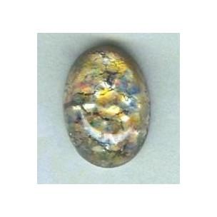 ^Multi Color Glass Opal Cabochons Handmade 12x10mm