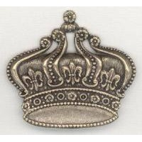 ^French Crown Ornamentation Oxidized Brass Stamping